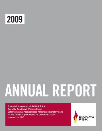 Annual Report 2009 - Bawag