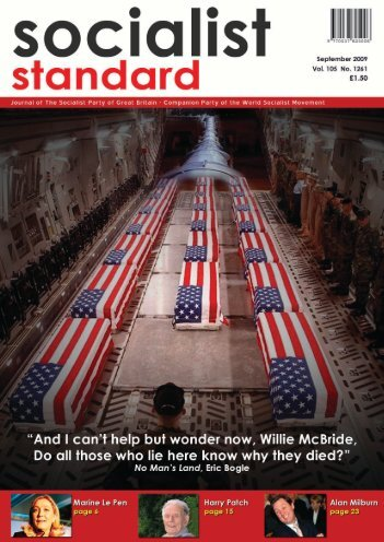 1 Socialist Standard September 2009 - World Socialist Movement