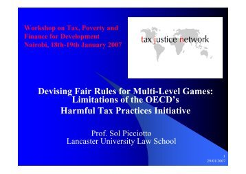 Limitations of the OECD's Harmful Tax Practices Initiative - It works!