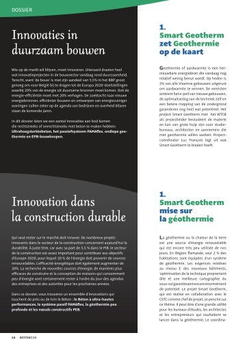 Innovaties in duurzaam bouwen Innovation dans la ... - Febe
