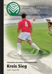 Terminkalender 08/09 - Fußball-Verband Mittelrhein e.V.