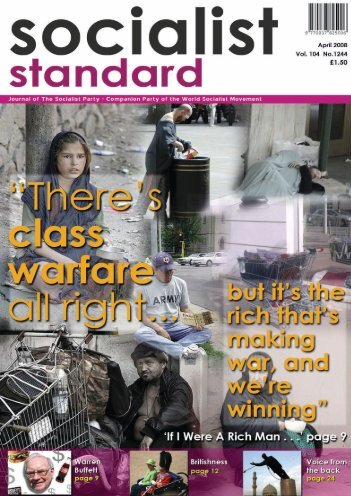 Socialist Standard April 2008 - World Socialist Movement