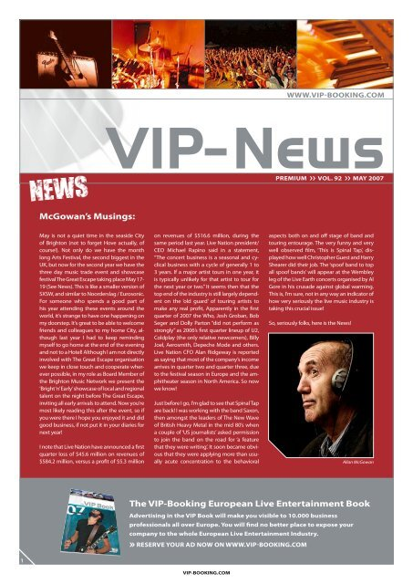 Open newsletter (PDF/print) - VIP-Booking