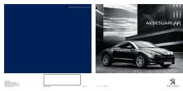 Yeni RCZ aksesuar broşürü - Peugeot
