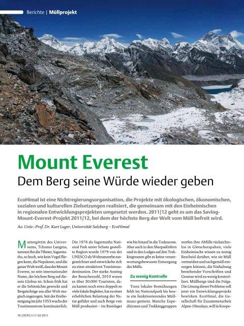 Mount Everest - Ecohimal