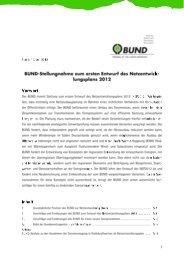 BUND-Stellungnahme zum Netzentwicklungsplan 2012