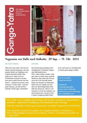 Reiseplan Indien Okt 13 - Yoga Vidya