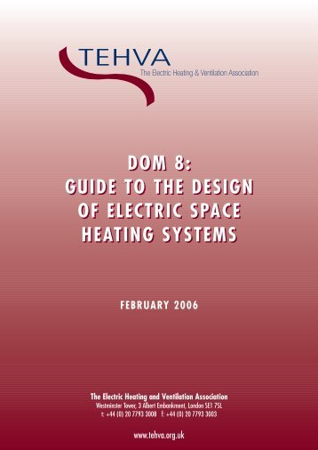 Guide to the design of electric space heating systems - Dimplex