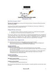 Concours d'écriture de conte Halloween 2007 Qu ... - Ville de Montréal