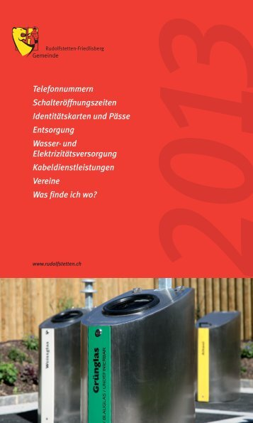 Infokalender 2013 - Gemeinde Rudolfstetten