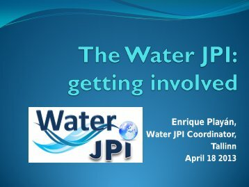 and the Water JPI