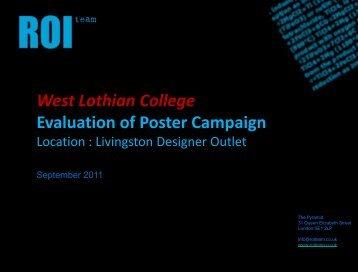 West Lothian College - Washroomadvertising.co.uk