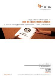 BS EN ISO 9001:2008 - British Security Industry Association