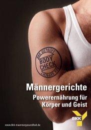 Download Rezeptbroschüre - bkk-maennergesundheit