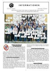I N F O R M A T I O N E N - Für Schüler - Gymnasium Weilheim
