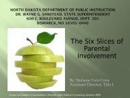 Parental Involvement - North Dakota Department of Public Instruction