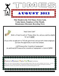 august 2012 - Thomas Allen Inc.