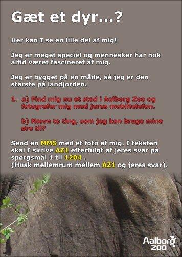 Gæt et dyr...? - Aalborg Zoo