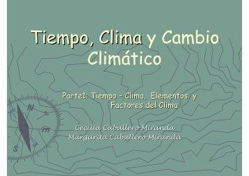 Clima: elementos, factores (pdf)