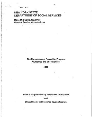 Homelessness Prevention Program Outcomes and Effectiveness