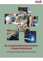 De arbejdsmedicinske klinikker i Region Midtjylland