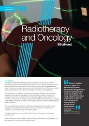 Radiotherapy and Oncology BSc(Hons) leaflet
