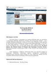 Det Kongelige Bibliotek The Royal Library Informacja o ... - Fidkar