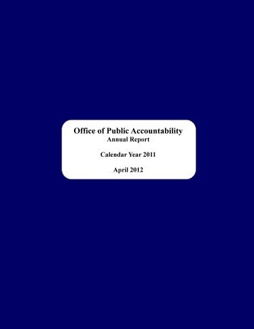2011 - The Office of Public Accountability