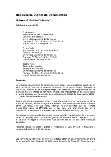 Repositorio Digital de Documentos - Uned