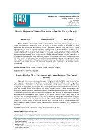 İhracat, Doğrudan Yabancı Yatırımlar ve İşsizlik: Türkiye Örneği*