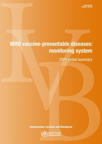 WHO vaccine-preventable diseases - Extranet Systems - World ...