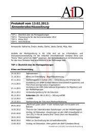 Protokoll vom 13.02.2012: Semesterabschlusssitzung