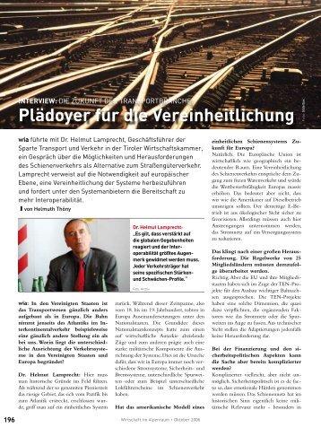 Sonderthema Transport und Logistik - wia