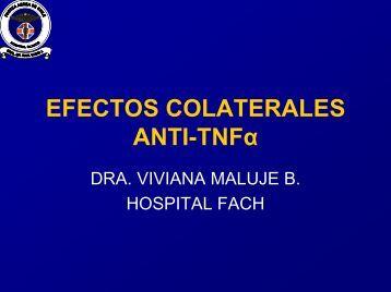 Efectos colaterales ANTI-TNF Alfa - Sociedad Chilena de ...