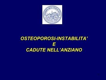 osteoporosi-instabilita - Medicina e chirurgia