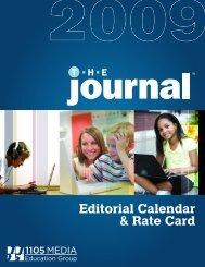 Editorial Calendar & Rate Card