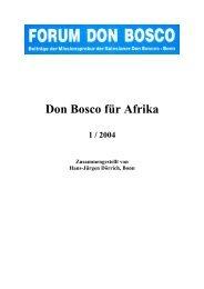 Don Bosco für Afrika - Don Bosco Mission