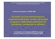 Cercetari privind monitorizarea si controlul materialului seminal de
