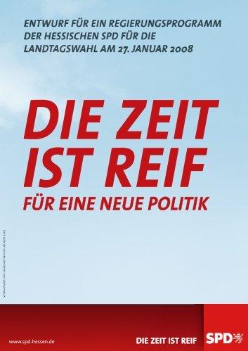Die Zeit ist reif für eine neue Politik - SPD Hessen