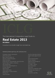 The International Comparative Legal Guide to: Real Estate