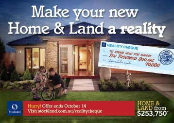 Make Your New Home & Land A Reality - Stockland