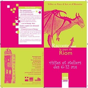 Depliant 6-12ans-Hiver09-10-V2:RIOM CO pat.2006 ... - Ville de Riom