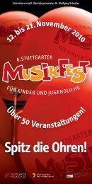 Spitz die Ohren! - Stuttgarter Musikfest