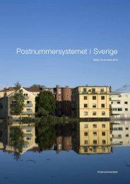 Postnummersystemet i Sverige (pdf) - Posten
