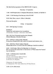 The final draft programme of the 2008 FEAMC Congress_von G–