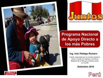 Programa Nacional de Apoyo Directo a los Más Pobres - Oficina ...