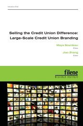 Selling the Credit Union Difference: Large-Scale Credit Union ...