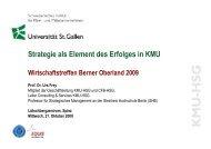 Referat von Prof. Dr. Urs Frey, Uni St. Gallen, Institut für KMU