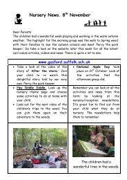 Nursery News. 8th November - Gusford Primary School