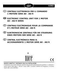 v.002 centrale elettronica per il comando 1 ... - Nice-service.com